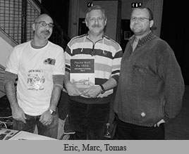 Photo of Eric Larger, Marc Deboeck and Tomas Poruba.