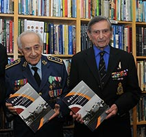 The photo captures Mr. Ivan Schwarz and Mr. Arnost Polak. Photo © The Aviation Bookshop.